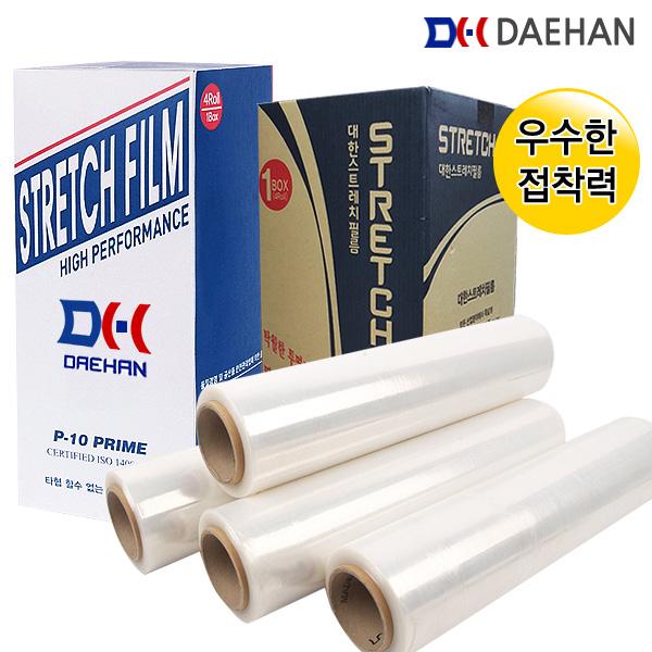Stretch Film 고기능스트레치필름(15mic)공업용포장랩 4롤 1개입