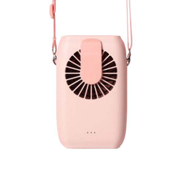 스탈투룸 휴대용 목걸이 선풍기 WALKING FAN WT-F22, 핑크