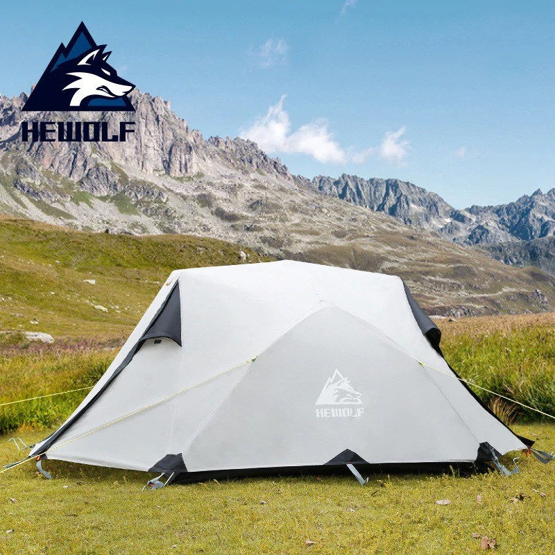 - (당일출고)hewolf 2-3인용 캠핑 등산 텐트 프리미엄텐트 강력방수 여행용 야영용텐트 210T 210D, 그레이