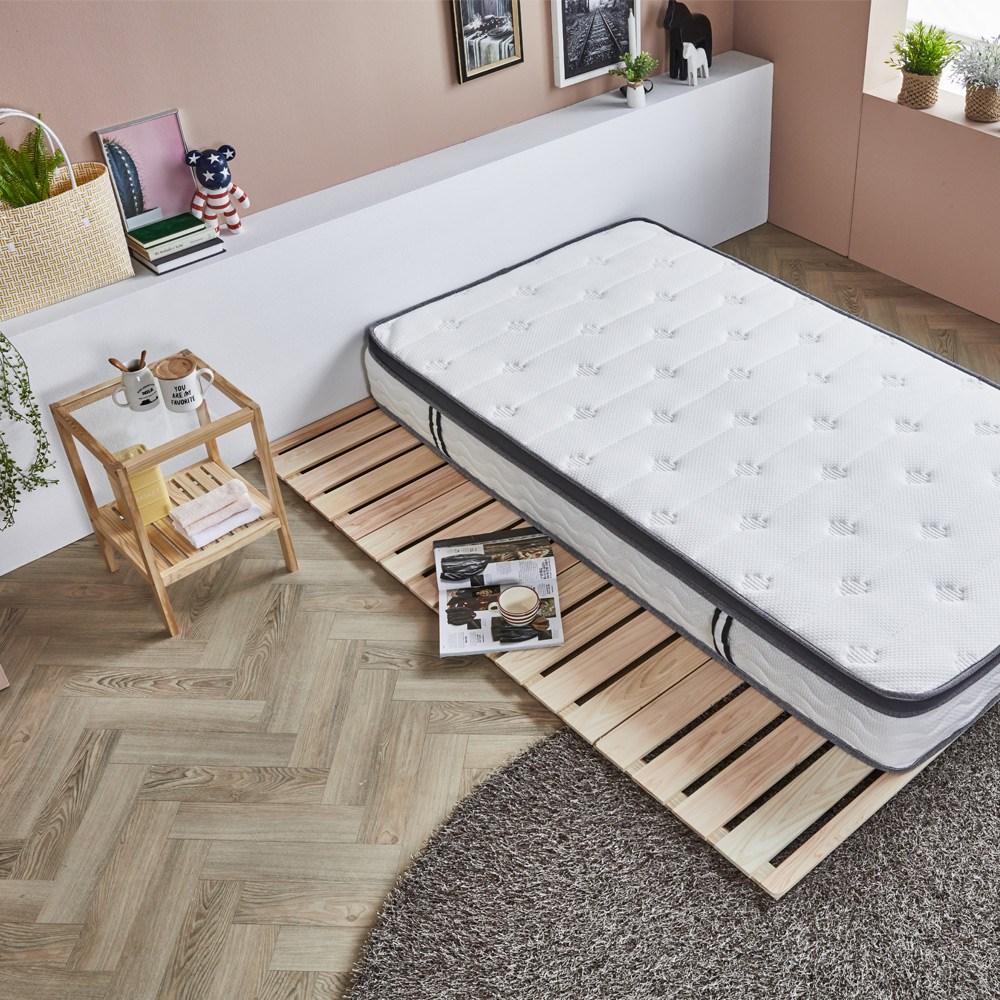 디오 편백나무 원목 4단 접이식 침대 깔판, 사이즈