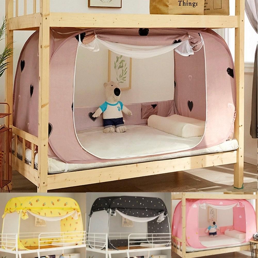 원터치모기장 침대 실내 모기장 텐트 2층침대 기숙사, 195(가로)x90(세로)x90(높이)