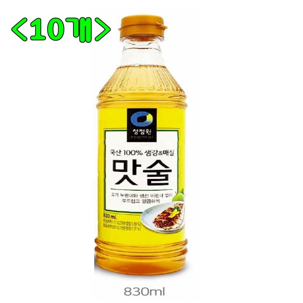 청정원 맛술, 830ml, 10개