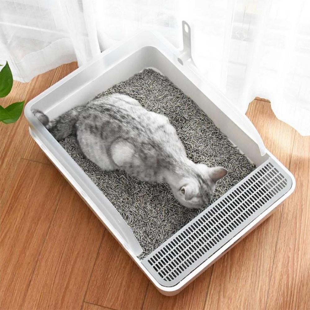 Product Image of the 브로위즈 고양이 모래통 배변통 화장실 평판형 대형 중형
