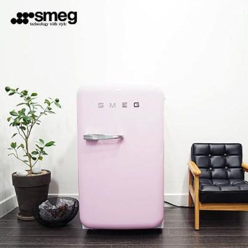 와이프 20대 여자 생일선물 가정용술 미니와인 냉장고 SMEG/스멕FAB5 빈티지 스몰, 01 분홍색