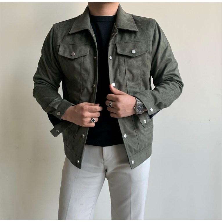 어니스트 클래식 남자 가을 트러커 스웨이드 자켓 4컬러