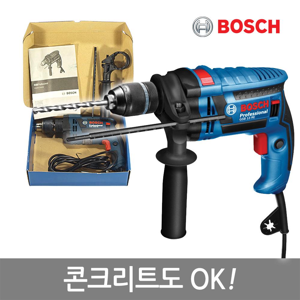 보쉬 신형 650W전동드릴 GSB1300RE Carton Box/콘크리트OK, 단품