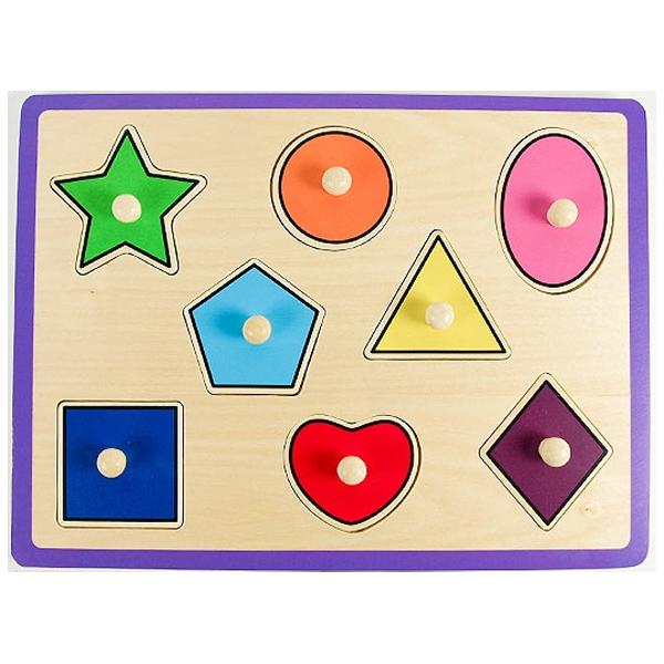 비가 꼭지퍼즐 4종 교통 동물 도형 과일 원목퍼즐
