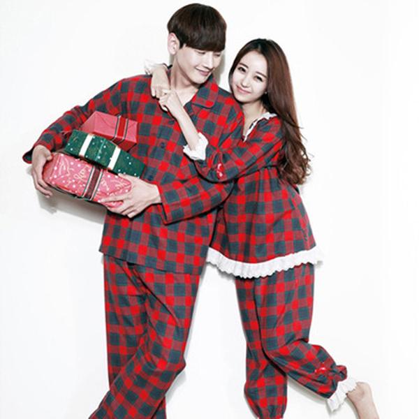 카이드 발렌타인 커플 잠옷 세트 러블리 파자마 신혼부부 룩