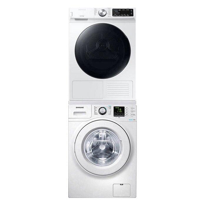 [신세계TV쇼핑][삼성] 버블샷 세탁기 12Kg + 건조기 9Kg 세트 WF12F9K3UMW11+DV90T5540BW, 단일상품