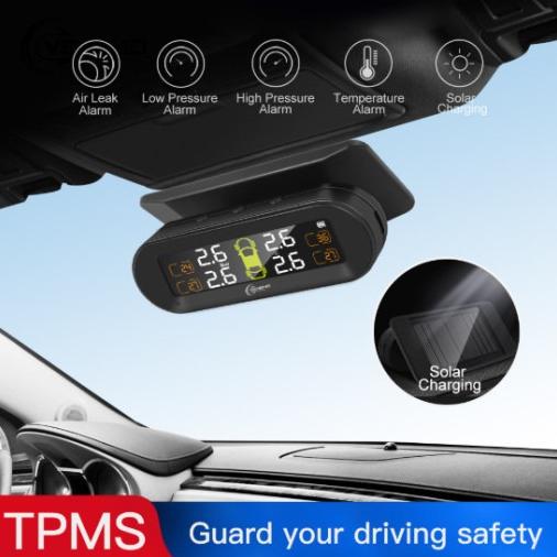 상세페이지 참조 자동차 타이어 압력 모니터 무선 실시간 모니터링 센서 경보장치 TPMS 디지털 방식 태양열 충전
