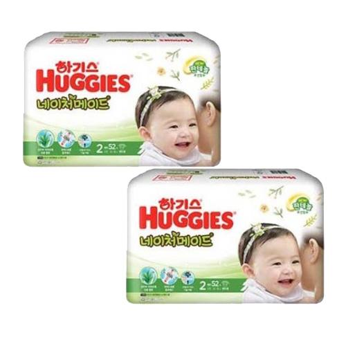 하기스 NEW 네이처메이드 밴드형 기저귀 여아용 소형 2단계(4~8kg), 104매