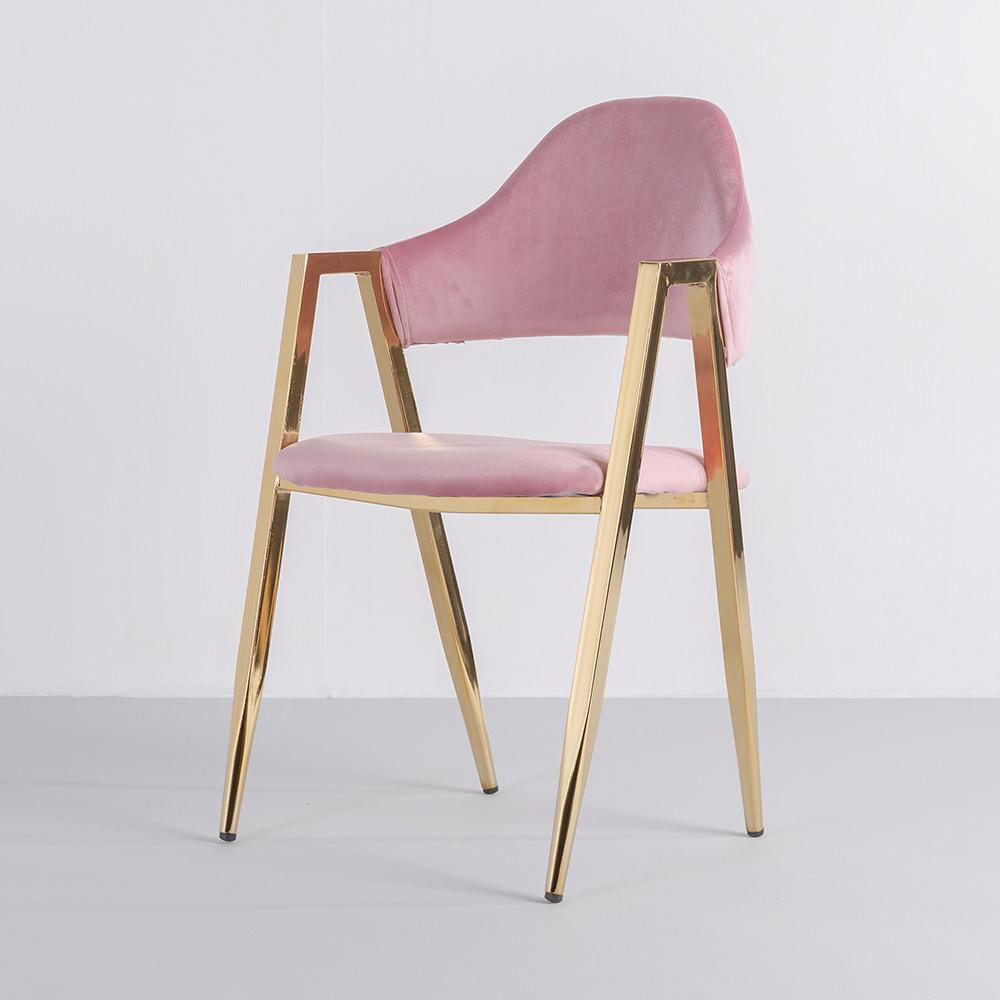 가구느낌 골드벨벳비올렛체어 식탁의자 디자인 카페 인테리어의자, 03_골드벨벳비올렛-핑크