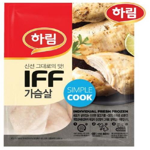 하림 IFF 냉동 닭가슴살 3kg(1kg x 3), 1kg, 3봉, 3kg (POP 1170029914)