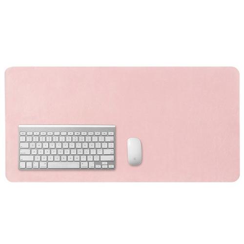 캘리웨이브 와이드 가죽 대형 데스크 매트 프리미엄 논슬립 책상 테이블 패드, 핑크