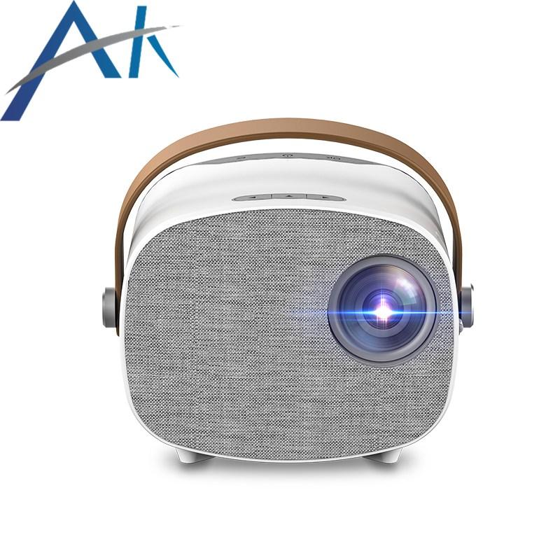 아카소 1080P 소형 휴대용 스마트폰 미니 무선미러링 빔프로젝터 미니빔프로젝터, MP03