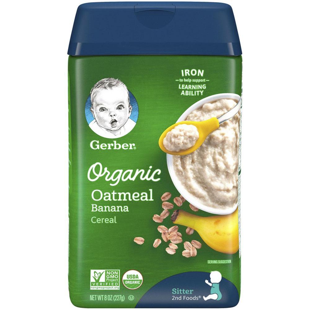 거버 오트밀 시리얼 분말 어린이식품 227g, 1개, 바나나(Banana)