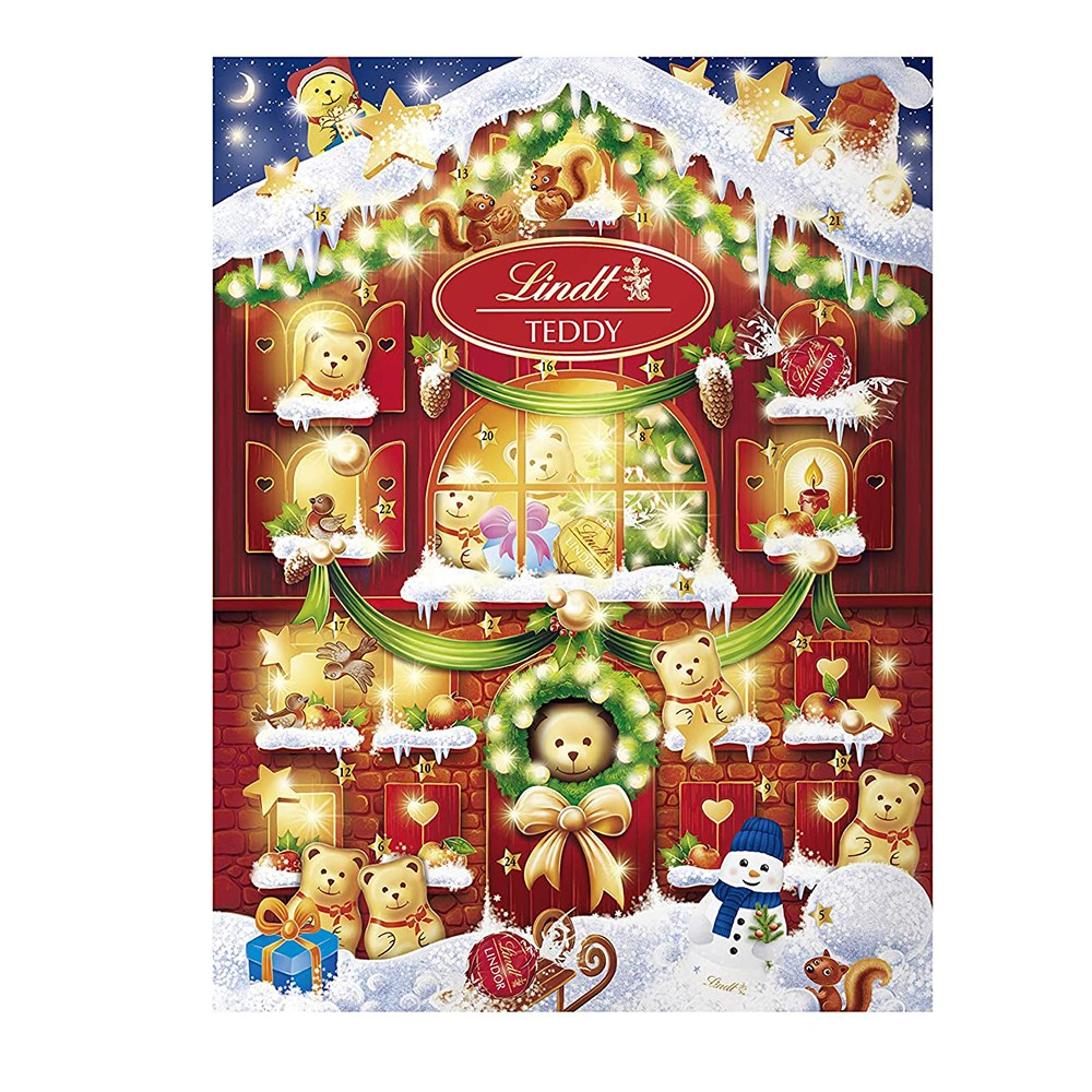 Lindt 린트 2020 크리스마스 어드벤트 캘린더 밀크 초콜릿 172g Countdown Advent Calendar Milk Chocolate 달력, 1개