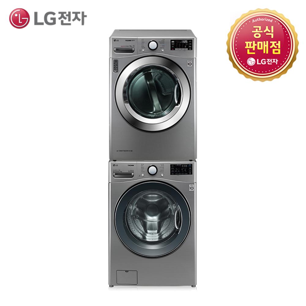 LG 트롬 세탁기 건조기세트 F21VDU-6VN(F21VDU+RH16VTAN), F21VDU-6VN