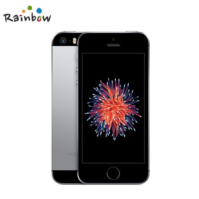 원래 잠금 해제 애플 아이폰 SE 지문 듀얼 코어 4G LTE 스마트 폰 봉인 2GB RAM 16/64GB ROM 터치 ID 휴대, 02 Space Gray, 03 16GB A1723