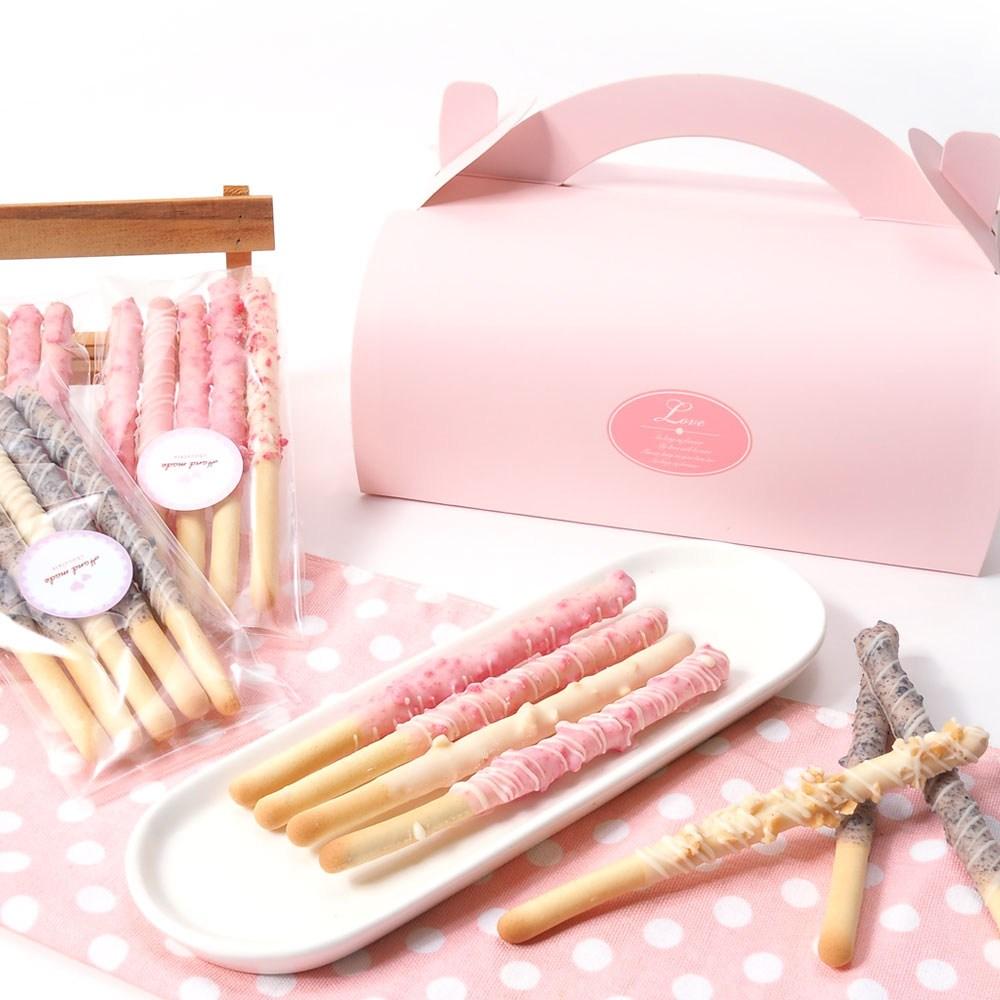 붐스토리 핑크롤 막대과자 만들기세트 초콜릿, 1개, 스틱+초콜릿_포장용품