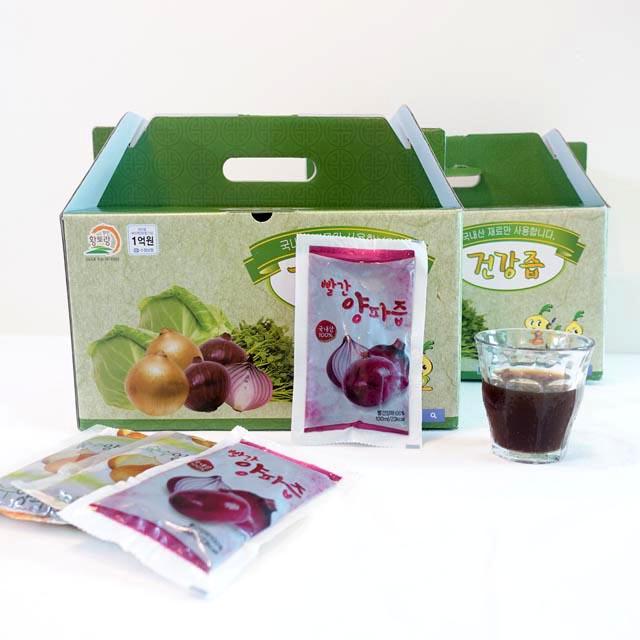 무안황토랑 [1+1]100% 무농약 껍질채 저온착즙 자색양파즙 100포, 100팩, 100ml