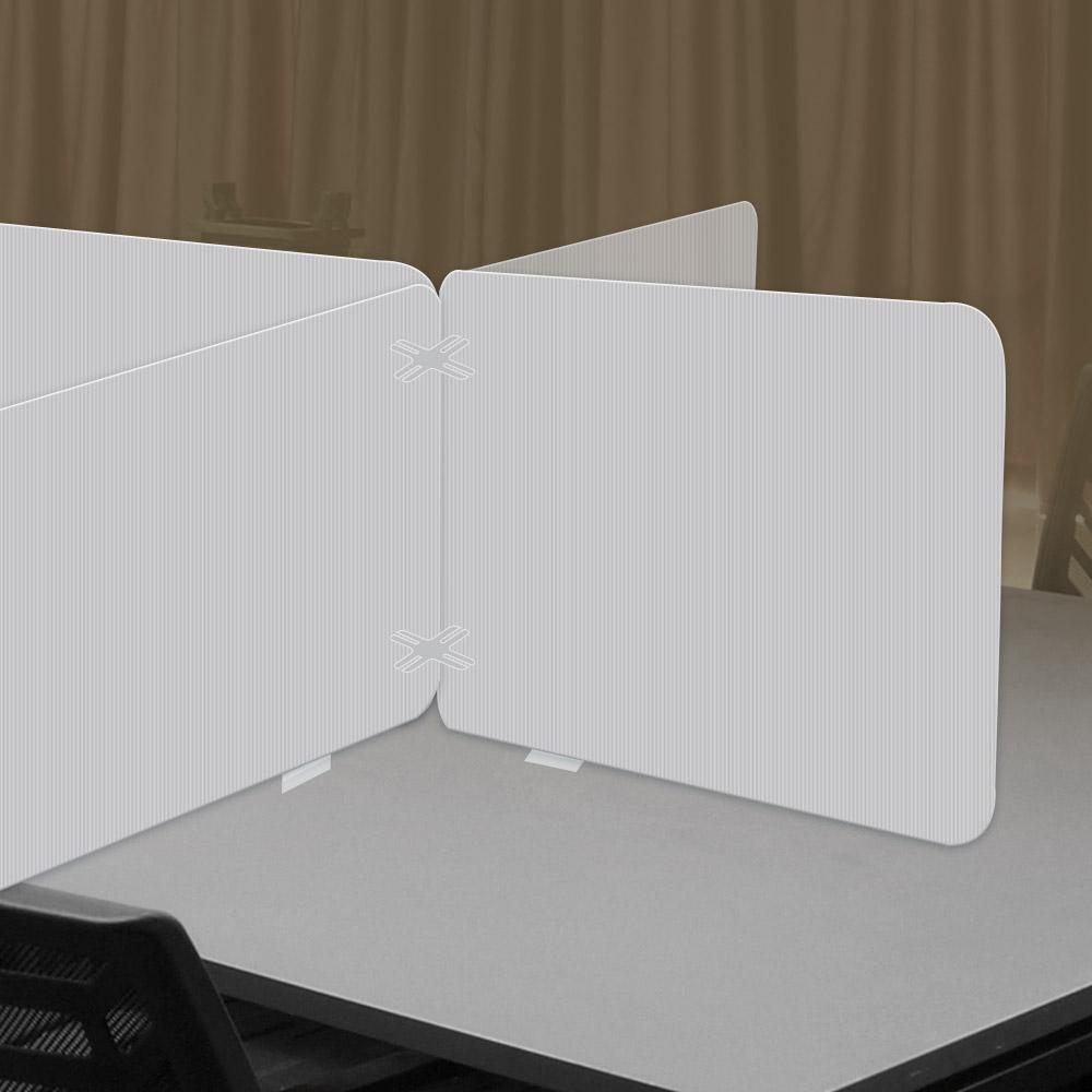 하나사인몰 반투명 코로나 칸막이 학교 식당 사무실 책상가림막, 단프라 십자형 600x440mm
