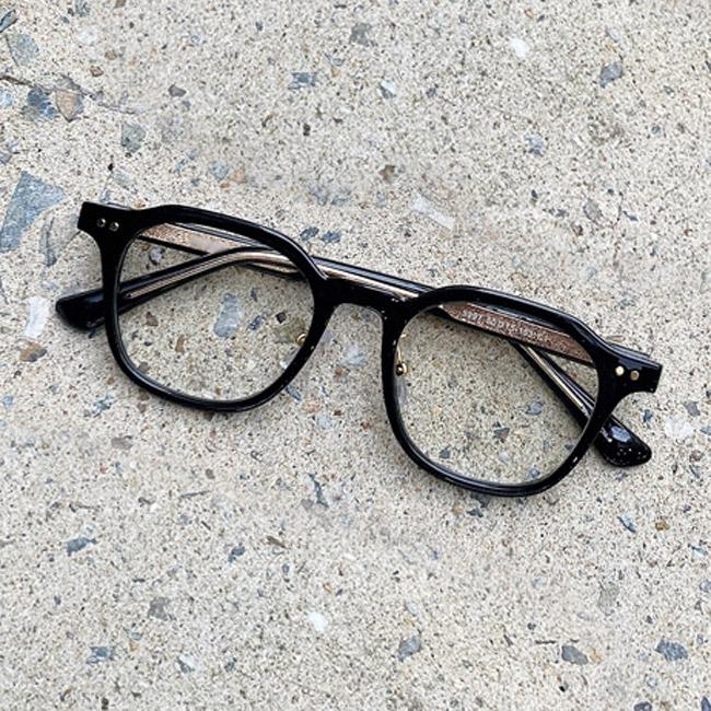 eyelove [안경원제품] 자외선 차단 베이직 사각 뿔테 시력보호 안경