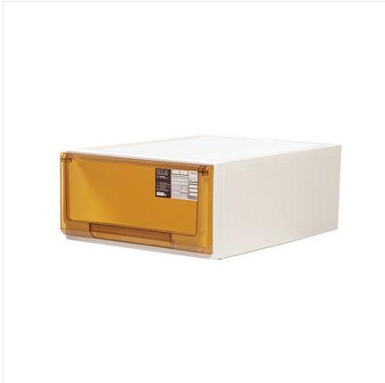 침대협탁 플라스틱 서랍식 수납장 캐비닛 국다용도 침대헤드 장난감 옷가지 문서 자유롭게조합가능, C06-5115투명한 브라운 22리터