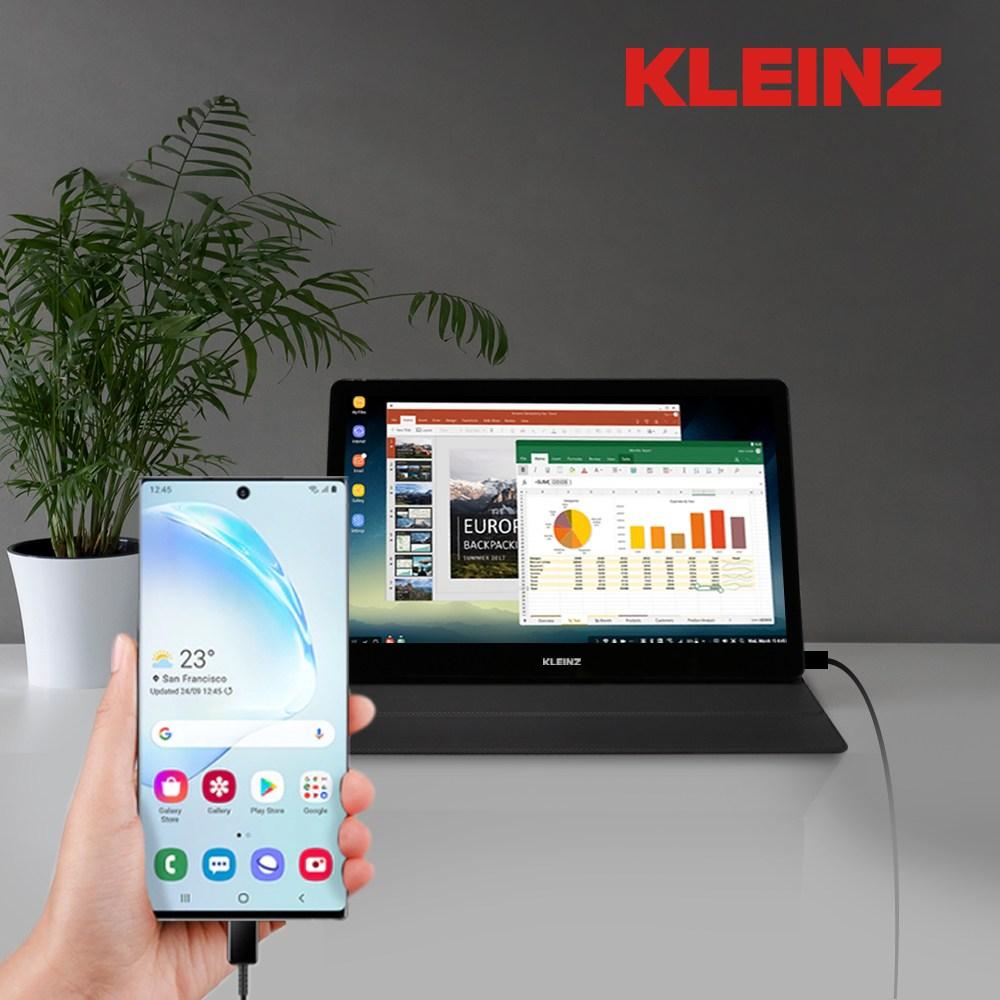 클라인즈 LG 패널 포터블 모니터 휴대용 터치 미니 서브 보조 차량용 덱스 K14FT