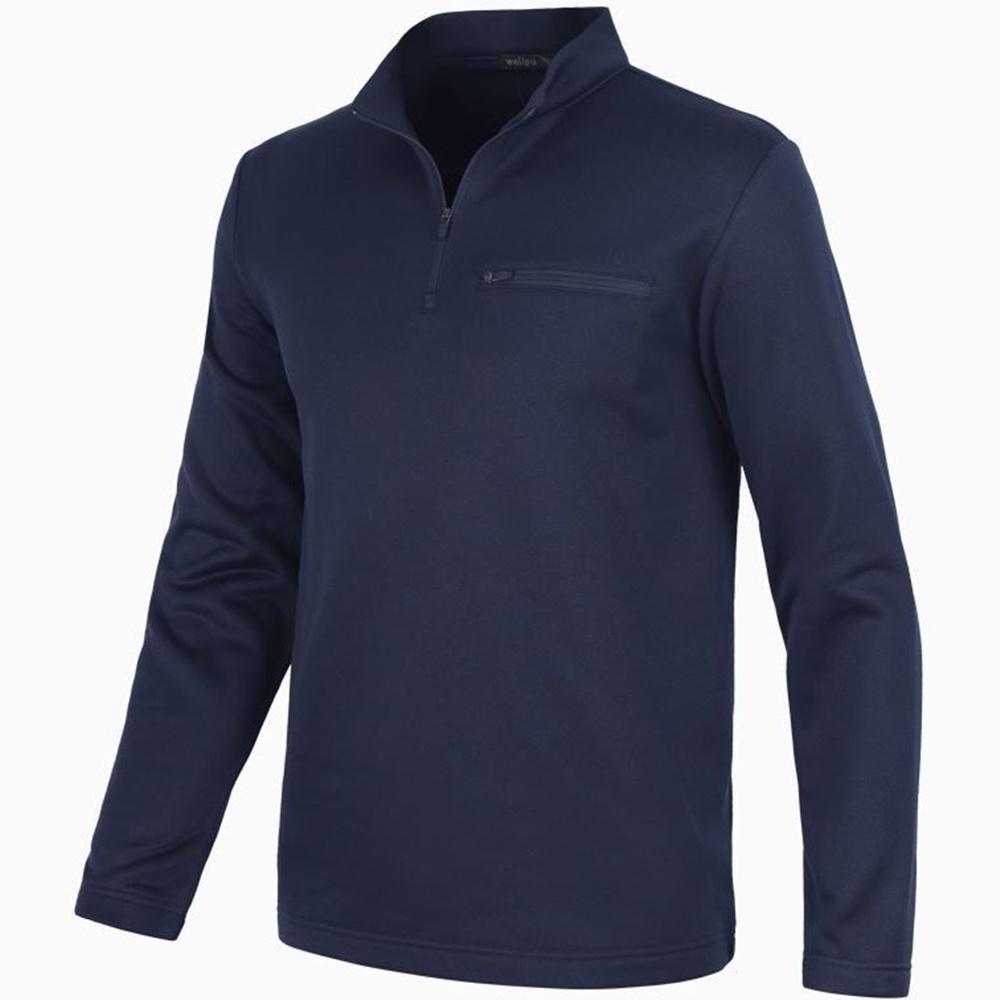 남성 따뜻한 기모 스판 집업 겨울 등산 집업 티셔츠