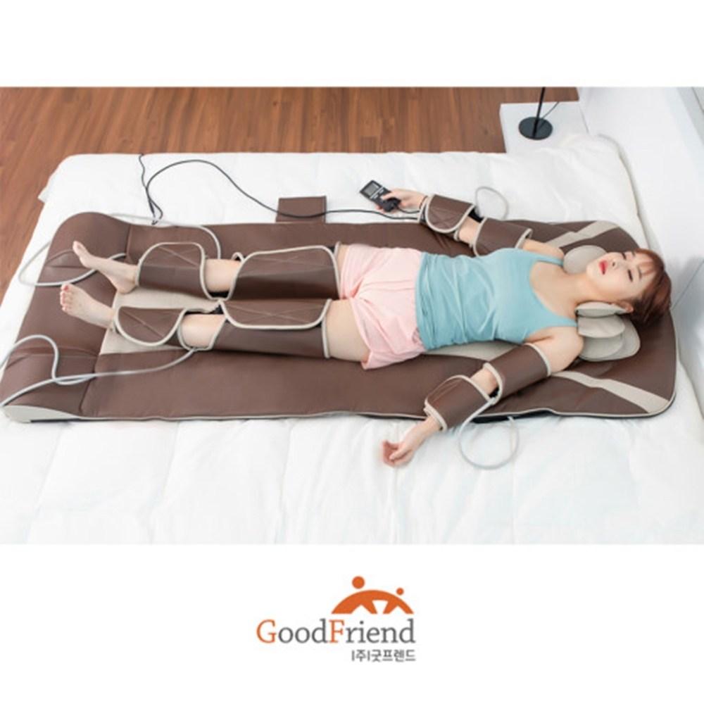 굿프렌드 공기압안마매트 마사지기 다리 어깨 전신스트레칭, 단일상품