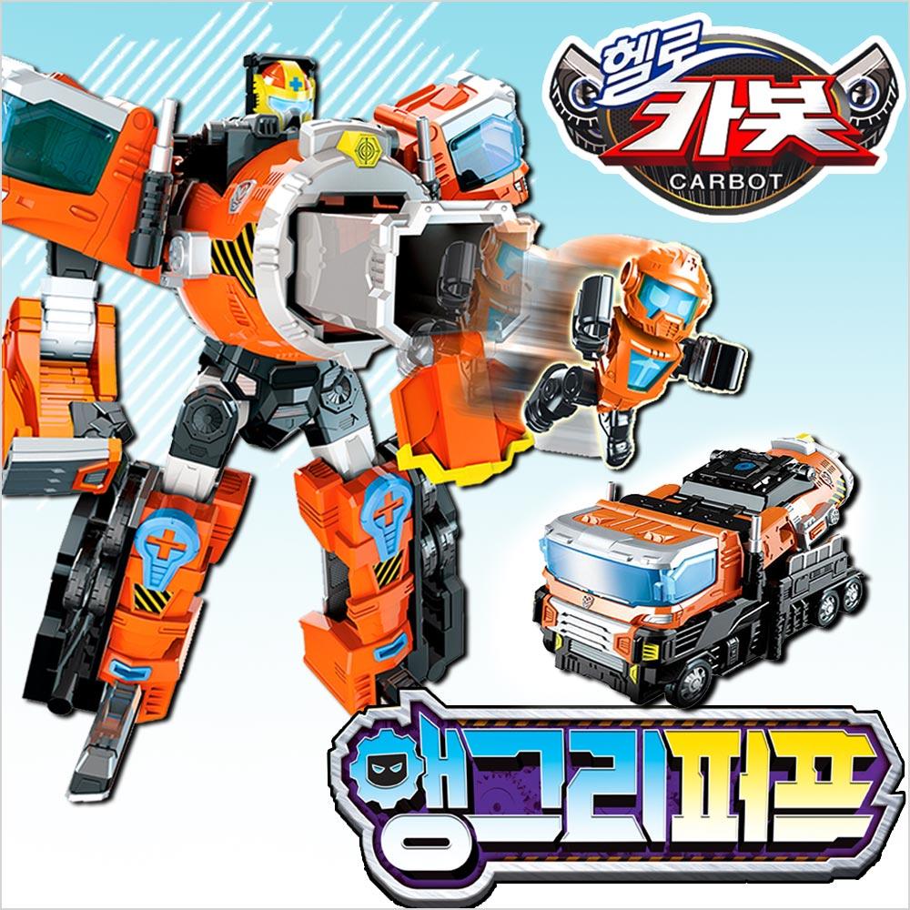 헬로 카봇 트랜스포머 앵그리퍼프 변신 트럭 합체 자동차 로봇 장난감, 단품