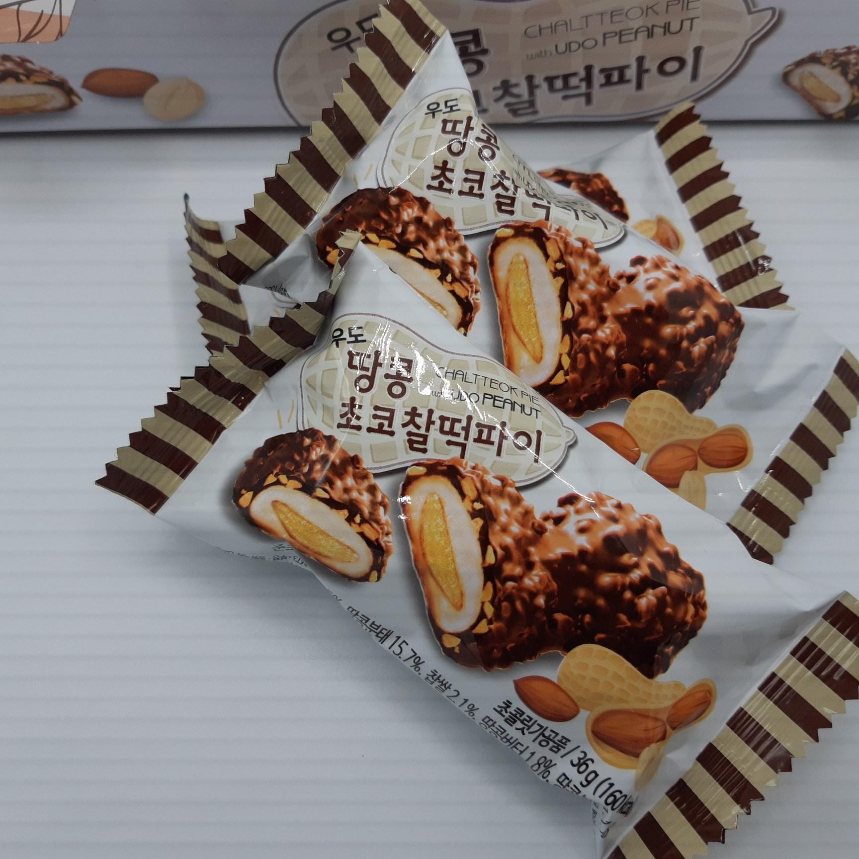 제주랑 우도땅콩 초코 찰떡 파이, 36g, 12봉