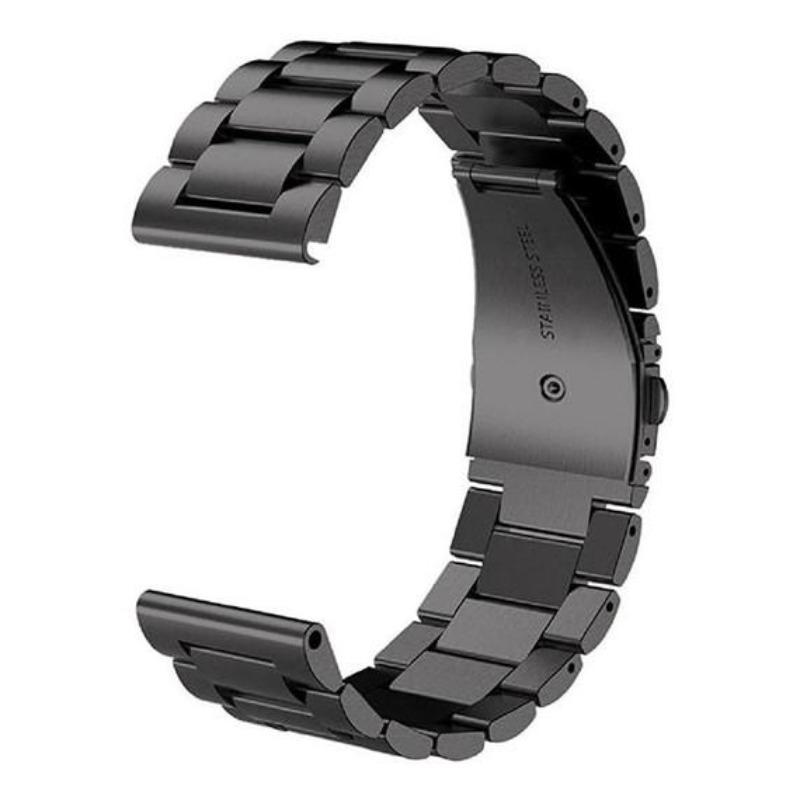 샤오미 헬로우 솔라 실리콘 스트랩 밴드 시계 줄 교체, 모델 : Xiaomi Haylou Solar 시계 【라운드 다이얼】개, 스틸 벨트-블랙