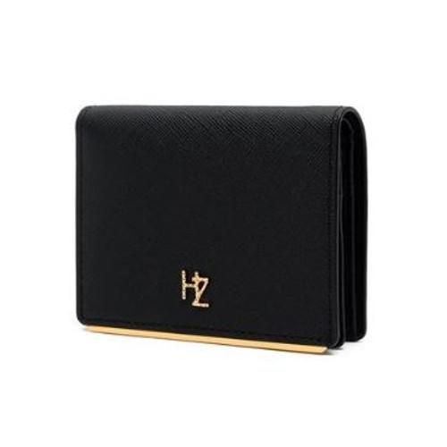 [헤지스 ACC]HIWA0E110BK/블랙 골드바 장식 반지갑