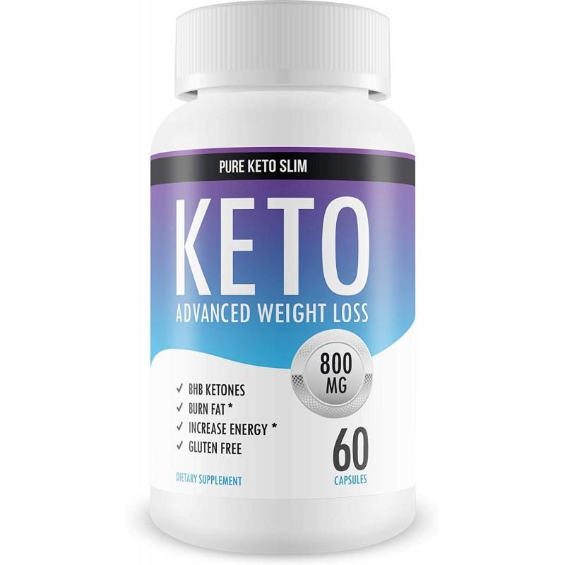 PureKetoSlim - 케토 슬림 다이어트 제품 외인성 케톤 도움이 체중 감량 보조 식품 팻 부스트 에너지, 5개