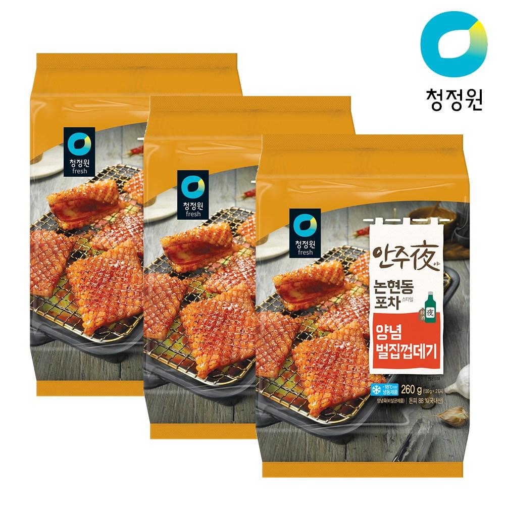 안주야 양념벌집껍데기 260g x 3팩, 단품