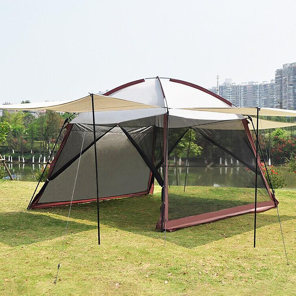 메이리앤 타프스크린 캠핑 타프 하우스 모기장 텐트, 1개, (단독구매불가) 2.UV차단 스크린 2매+폴대 낱개 2개