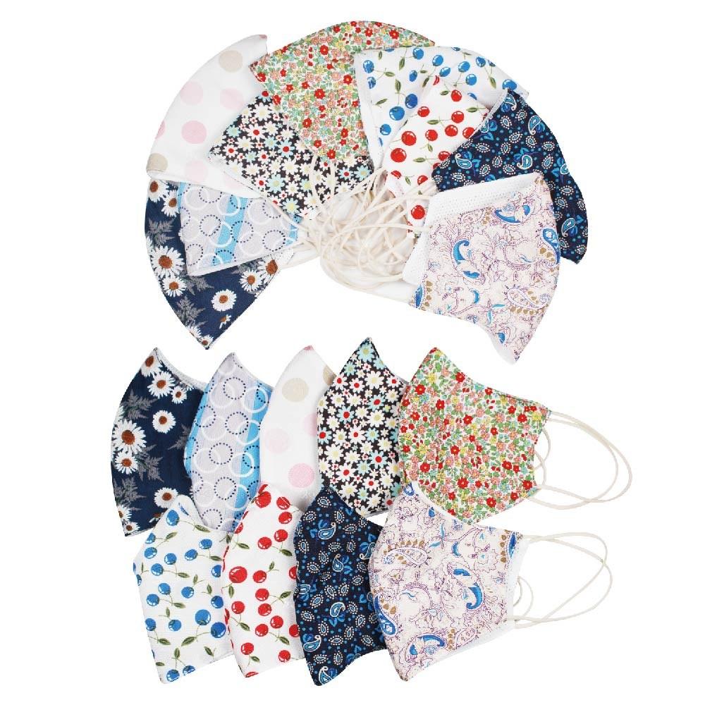양말천국 패션 고급 인견 패턴 마스크 시원한 여름 마스크