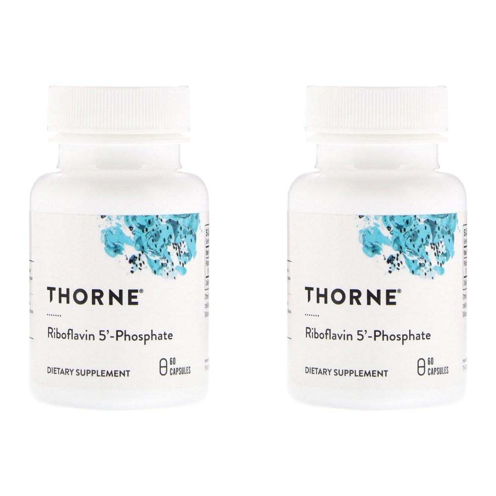 Thorne Research 리보플라빈5 인산 60정 2병, 선택, 상세설명참조