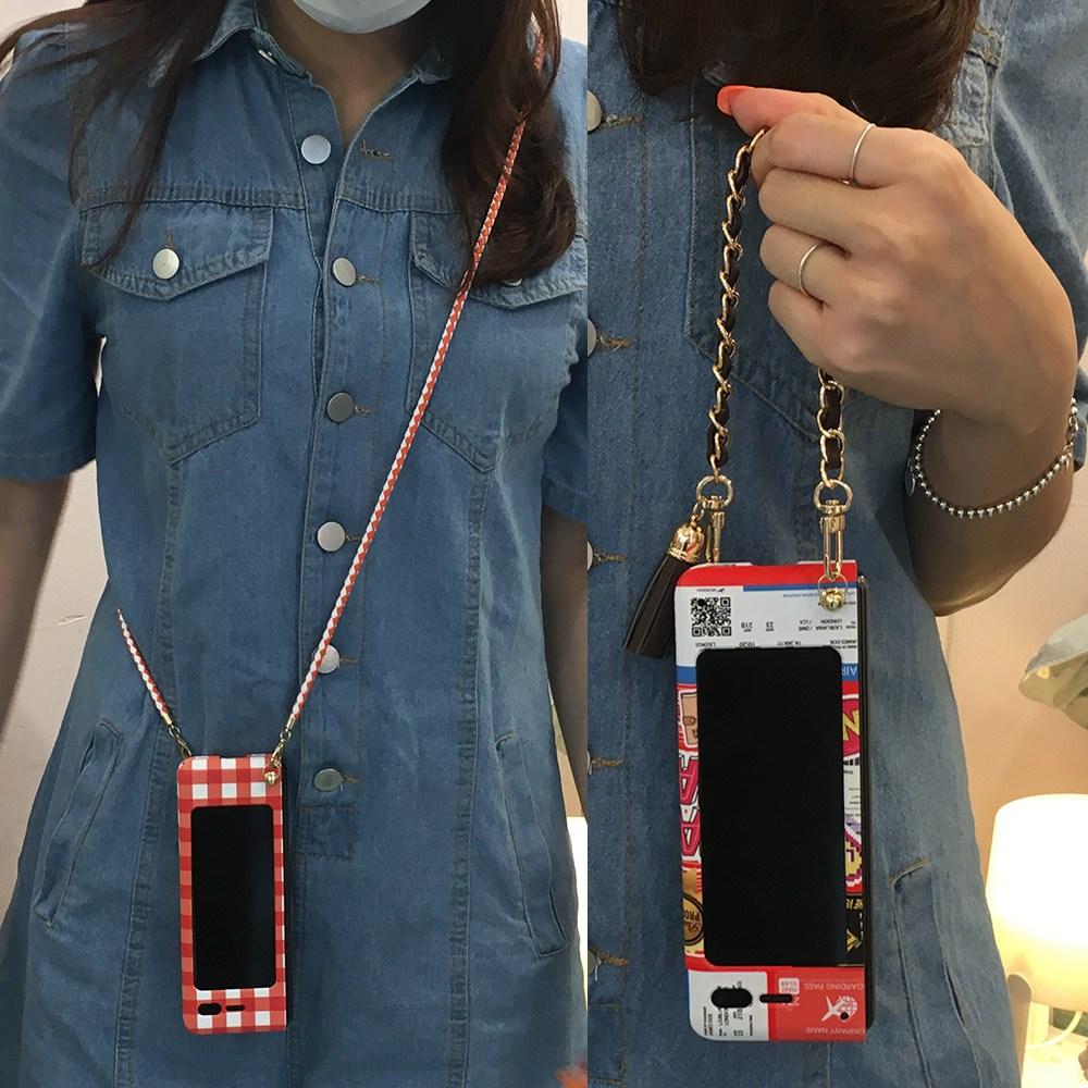 디아이 갤럭시 폴드1 케이스 삼성 폴더블 폰케이스 디자인 다양한 스트랩 국내산 탈부착 롱스트랩 미니 숏스트랩 김혜수줄 휴대폰