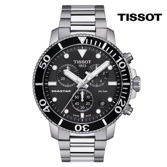 티쏘 씨스타 1000 쿼츠 크로노 T120.417.11.051.00 45.5mm 메탈시계