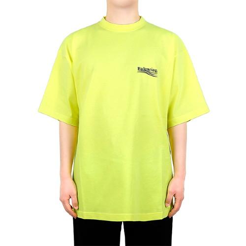 발렌시아가 21SS 네온옐로우 웨이브 로고 티셔츠 641675 TJVF7 7110-5-4729636143