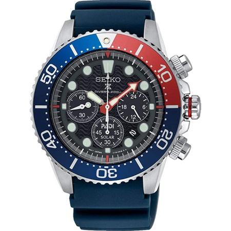 SEIKO PROSPEX PADI Special Edition Chronograph Solar Divers 200M Pepsi Bezel SSC663P1 PROD80001021