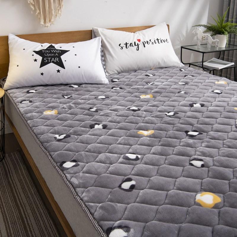 토퍼 템퍼 매트리스 침구 기타 겨울 쿠션 접이식 침대 기모 융털 매트, AH_1.0 x 2.0m