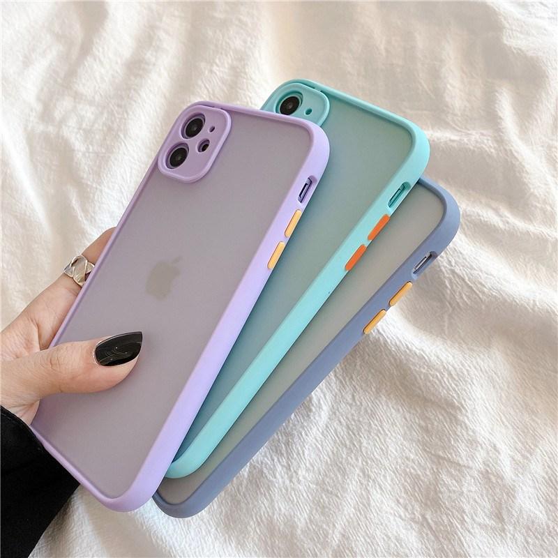 퐁퐁폰 아이폰 12 프로 미니 테두리 카메라 보호 폰꾸미기 케이스 휴대폰