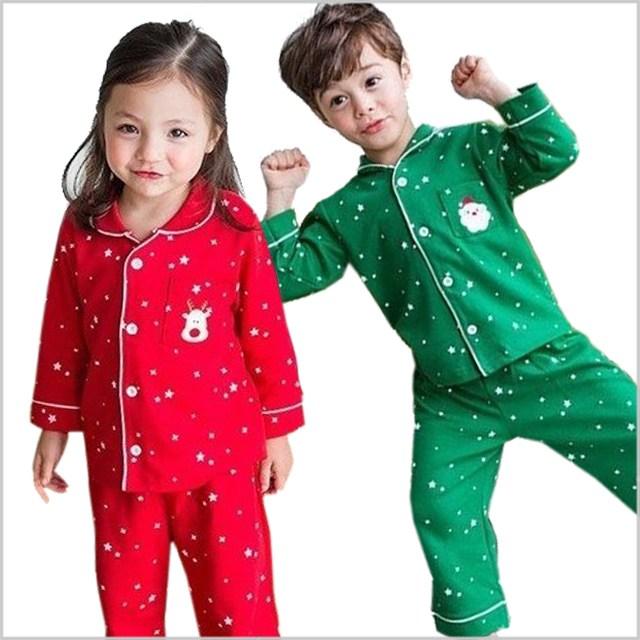 아이천사맘 어린이크리스마스잠옷 아동산타루돌프잠옷 (2색상 5호~11호)