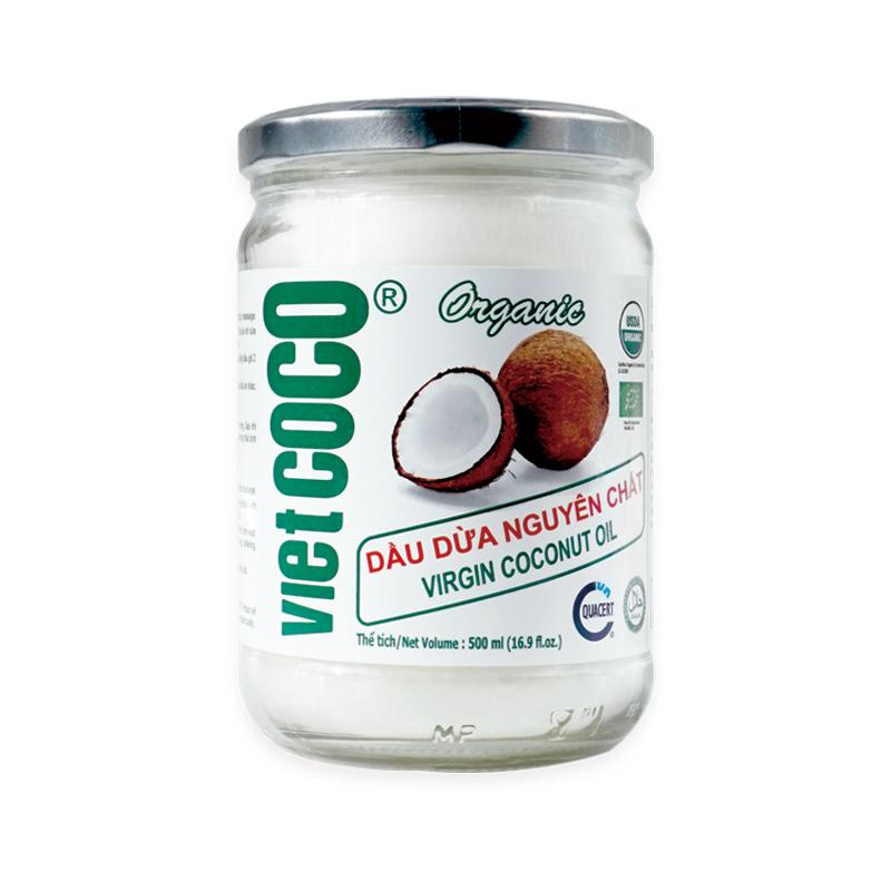 유기농 코코넛오일 버진 100% 비엣코코 식용, 1병, 500ml