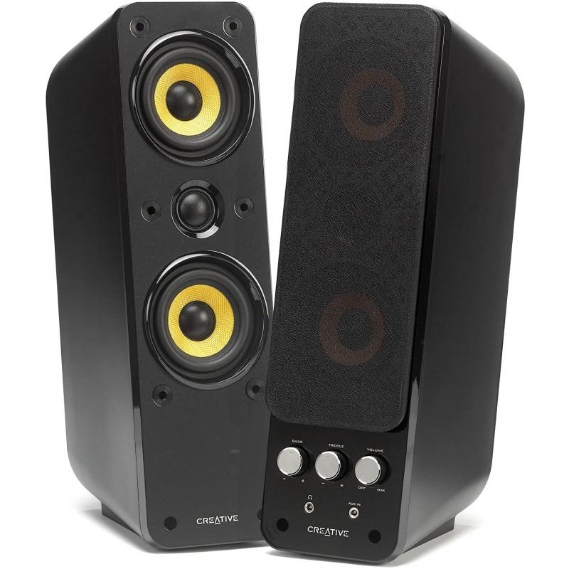 MTM Audiophile 구성 및 BasXPort 기술이 적용된 Creative GigaWorks T40 Series II (2.0) 멀티미디어 스, 단일상품