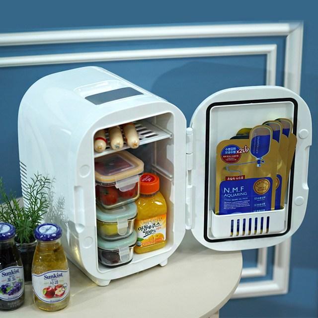 미니 화장품 냉장고 6L 차량용 냉온장고 겸용, 단품